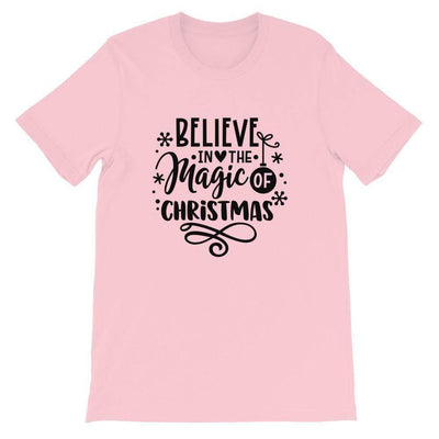 Leanne & Co. Shirt Pink / S Believe The Magic of Christmas Short-Sleeve Unisex T-Shirt