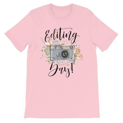 Leanne & Co. Shirt Pink / S Editing Day Short-Sleeve Unisex T-Shirt