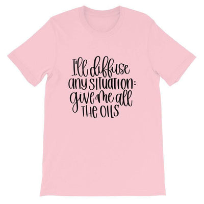 Leanne & Co. Shirt Pink / S I'll Diffuse Any Situation Short-Sleeve Unisex T-Shirt