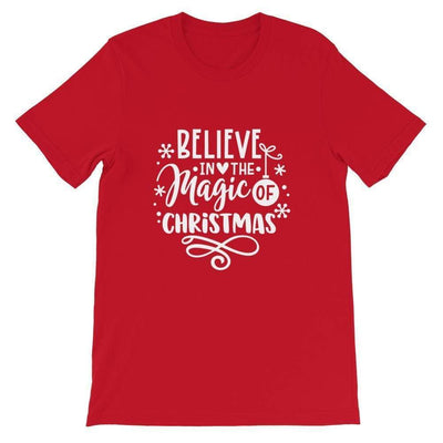 Leanne & Co. Shirt Red / S Believe The Magic of Christmas Short-Sleeve Unisex T-Shirt