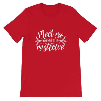 Leanne & Co. Shirt Red / S Meet Me Under the Mistletoe Short-Sleeve Unisex T-Shirt
