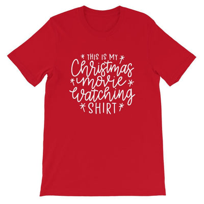 Leanne & Co. Shirt Red / S This Is my Christmas Movie Watching Short-Sleeve Unisex T-Shirt