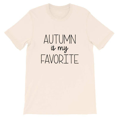 Leanne & Co. Shirt Soft Cream / S Autumn Is My Favorite Short-Sleeve Unisex T-Shirt