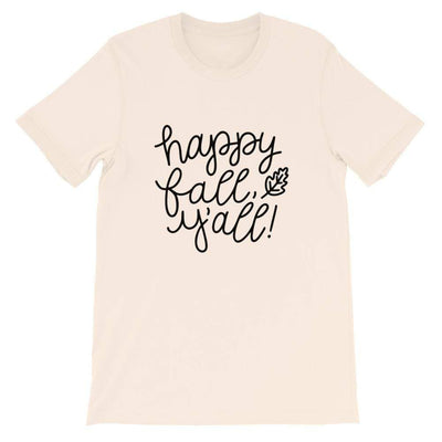 Leanne & Co. Shirt Soft Cream / S Happy Fall Y'all! Short-Sleeve Unisex T-Shirt