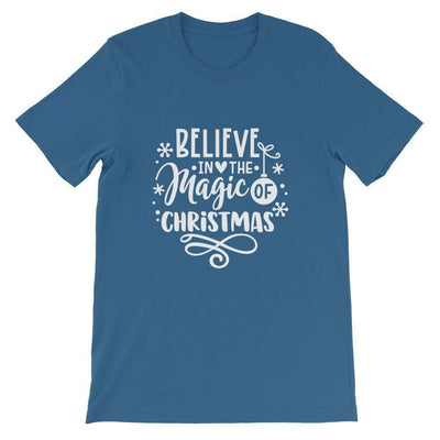 Leanne & Co. Shirt Steel Blue / M Believe The Magic of Christmas Short-Sleeve Unisex T-Shirt