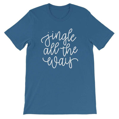 Leanne & Co. Shirt Steel Blue / S Jingle All The Way Short-Sleeve Unisex T-Shirt