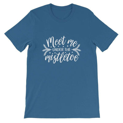 Leanne & Co. Shirt Steel Blue / S Meet Me Under the Mistletoe Short-Sleeve Unisex T-Shirt