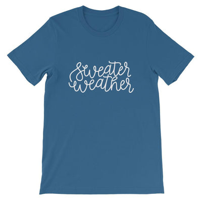 Leanne & Co. Shirt Steel Blue / S Sweater Weather Short-Sleeve Unisex T-Shirt