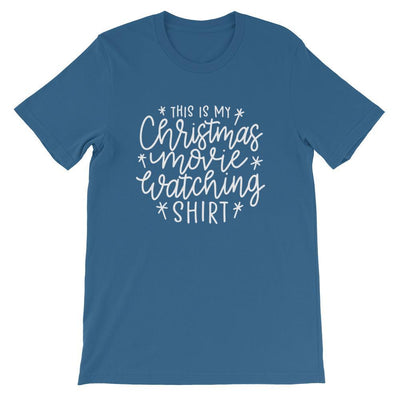 Leanne & Co. Shirt Steel Blue / S This Is my Christmas Movie Watching Short-Sleeve Unisex T-Shirt