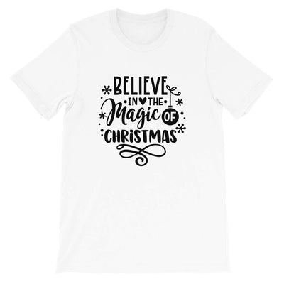 Leanne & Co. Shirt White / XS Believe The Magic of Christmas Short-Sleeve Unisex T-Shirt