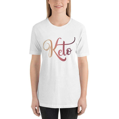 Leanne & Co. Shirt White / XS Keto Ketone Strips Rainbow Short-Sleeve Unisex T-Shirt