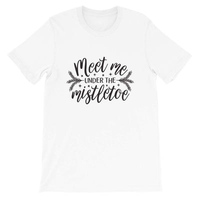 Leanne & Co. Shirt White / XS Meet Me Under the Mistletoe Short-Sleeve Unisex T-Shirt