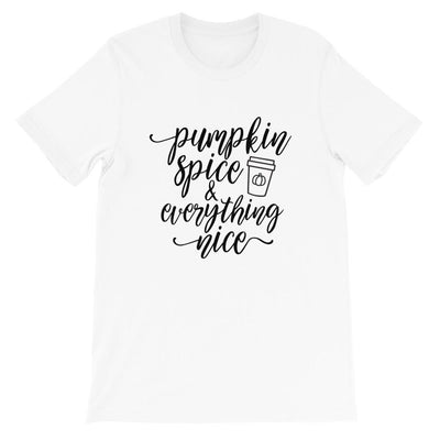 Leanne & Co. Shirt White / XS Pumpkin Spice and Everything Nice Short-Sleeve Unisex T-Shirt