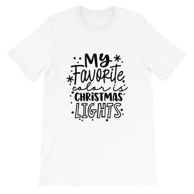Leanne & Co. Shirts White / XS My Favorite Color is Christmas Lights Short-Sleeve Unisex T-Shirt