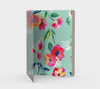 Leanne & Co. Spiral Notebook Teal Flowers Spiral Notebook