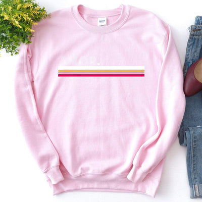 Leanne & Co. Sweatshirt Amor Striped Unisex Sweatshirt