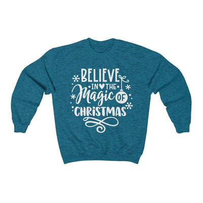 Leanne & Co. Sweatshirt Antique Sapphire / S Believe in the Magic of Christmas Unisex Sweatshirt