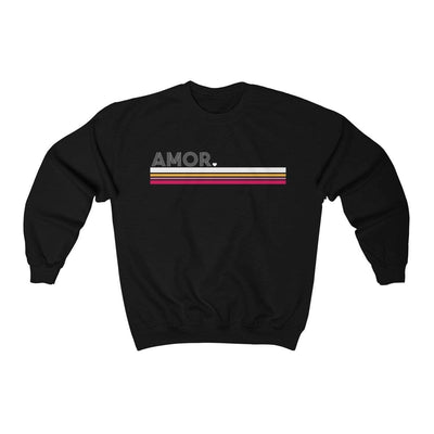 Leanne & Co. Sweatshirt Black / L Amor Striped Unisex Sweatshirt