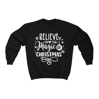Leanne & Co. Sweatshirt Black / L Believe in the Magic of Christmas Unisex Sweatshirt
