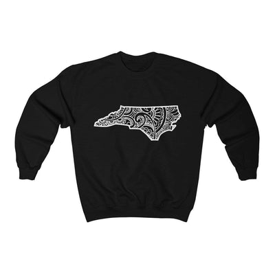 Leanne & Co. Sweatshirt Black / S North Carolina Doodle Lights Unisex Sweatshirt