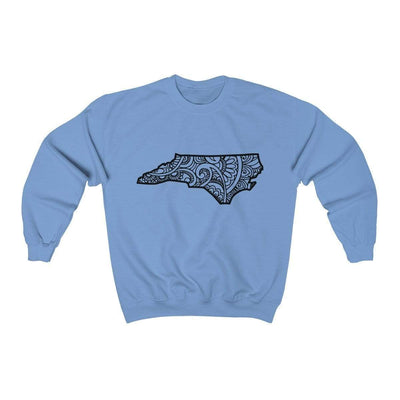 Leanne & Co. Sweatshirt Carolina Blue / S North Carolina Doodle Lights Unisex Sweatshirt