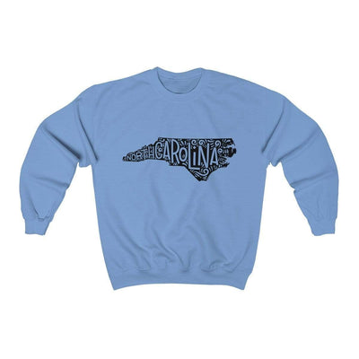 Leanne & Co. Sweatshirt Carolina Blue / S North Carolina Home State Unisex Sweatshirt