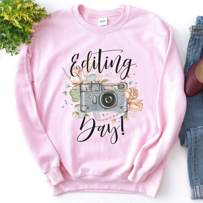 Leanne & Co. Sweatshirt Editing Day Vintage Camera Unisex Sweatshirt