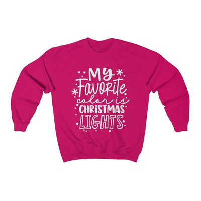 Leanne & Co. Sweatshirt Heliconia / S My Favorite Color is Christmas Lights Unisex Sweatshirt
