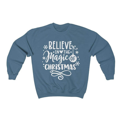 Leanne & Co. Sweatshirt Indigo Blue / S Believe in the Magic of Christmas Unisex Sweatshirt