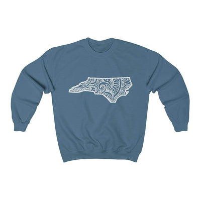 Leanne & Co. Sweatshirt Indigo Blue / S North Carolina Doodle Lights Unisex Sweatshirt