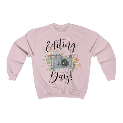 Leanne & Co. Sweatshirt Light Pink / L Editing Day Vintage Camera Unisex Sweatshirt