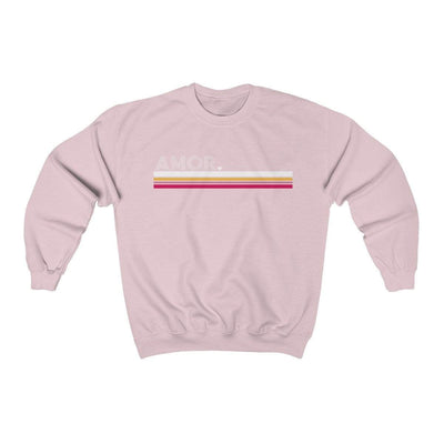 Leanne & Co. Sweatshirt Light Pink / S Amor Striped Unisex Sweatshirt