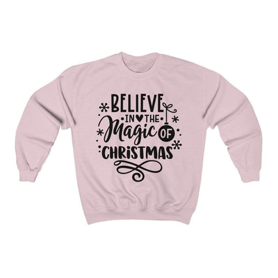 Leanne & Co. Sweatshirt Light Pink / S Believe in the Magic of Christmas Unisex Sweatshirt