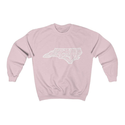 Leanne & Co. Sweatshirt Light Pink / S North Carolina Doodle Lights Unisex Sweatshirt