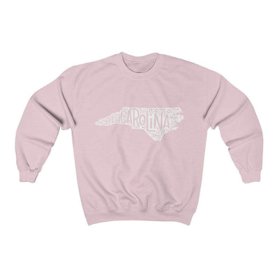 Leanne & Co. Sweatshirt Light Pink / S North Carolina Home State Unisex Sweatshirt
