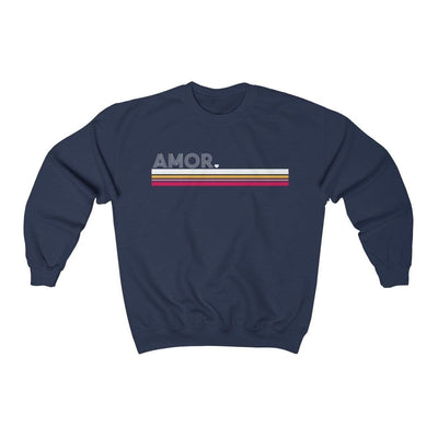Leanne & Co. Sweatshirt Navy / S Amor Striped Unisex Sweatshirt