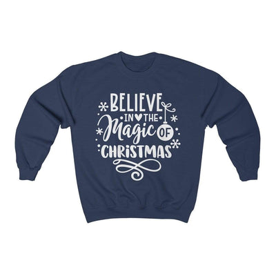 Leanne & Co. Sweatshirt Navy / S Believe in the Magic of Christmas Unisex Sweatshirt
