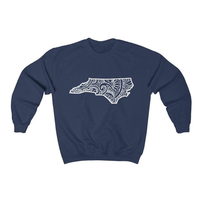Leanne & Co. Sweatshirt Navy / S North Carolina Doodle Lights Unisex Sweatshirt