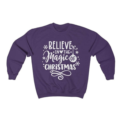 Leanne & Co. Sweatshirt Purple / S Believe in the Magic of Christmas Unisex Sweatshirt