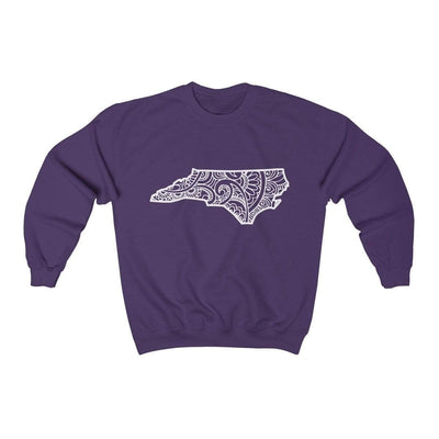 Leanne & Co. Sweatshirt Purple / S North Carolina Doodle Lights Unisex Sweatshirt