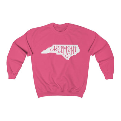 Leanne & Co. Sweatshirt Safety Pink / S Belmont, NC Unisex Sweatshirt