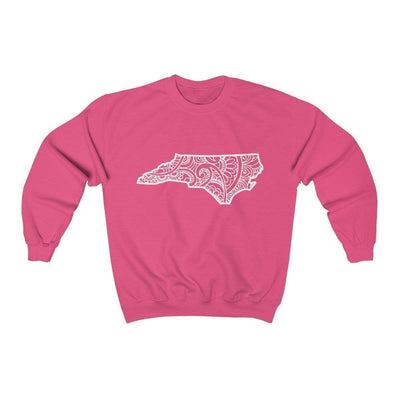 Leanne & Co. Sweatshirt Safety Pink / S North Carolina Doodle Lights Unisex Sweatshirt