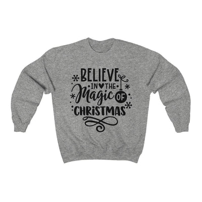 Leanne & Co. Sweatshirt Sport Grey / S Believe in the Magic of Christmas Unisex Sweatshirt