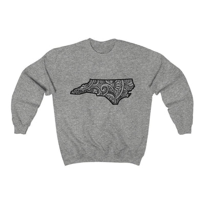 Leanne & Co. Sweatshirt Sport Grey / S North Carolina Doodle Lights Unisex Sweatshirt