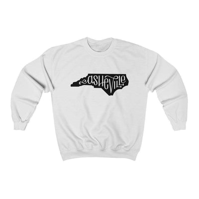 Leanne & Co. Sweatshirt White / S Asheville, NC Unisex Sweatshirt