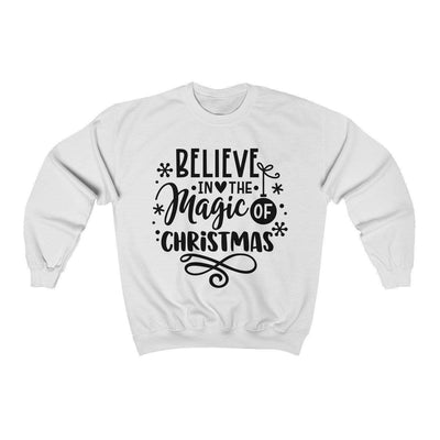 Leanne & Co. Sweatshirt White / S Believe in the Magic of Christmas Unisex Sweatshirt