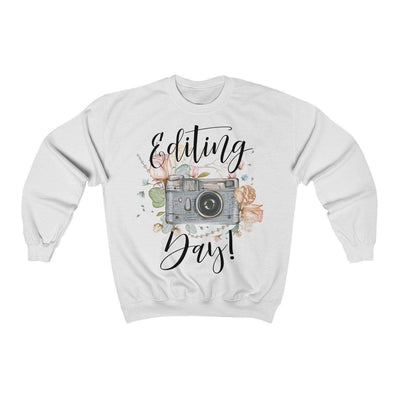 Leanne & Co. Sweatshirt White / S Editing Day Vintage Camera Unisex Sweatshirt