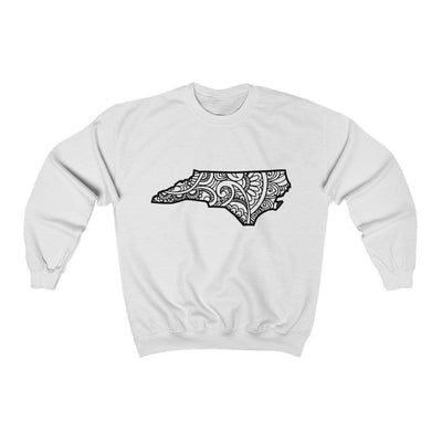 Leanne & Co. Sweatshirt White / S North Carolina Doodle Lights Unisex Sweatshirt