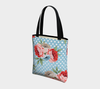 Leanne & Co. Tote Bag Polka Dot Roses Tote Bag