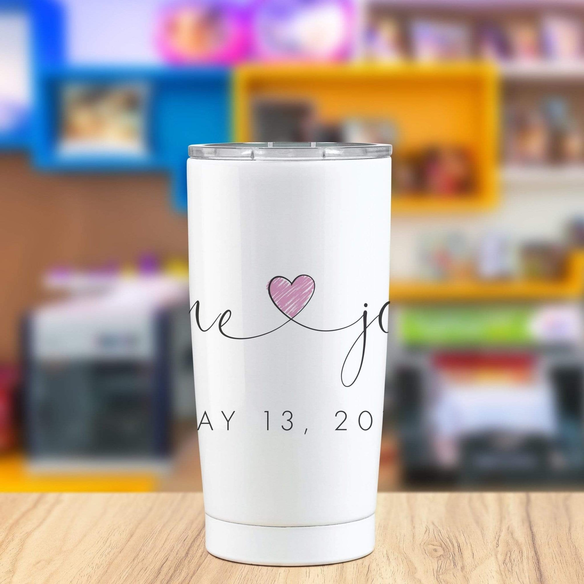 Leanne & Co. Tumbler White Customized Couple Tumbler